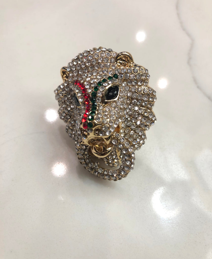 Bling Lion Head Ring