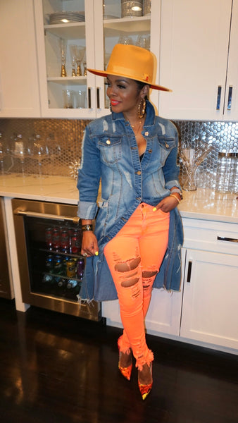 Neon Distressed Jeans 2