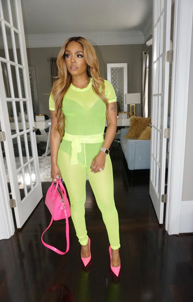 Bright Simple Neon Tie Set