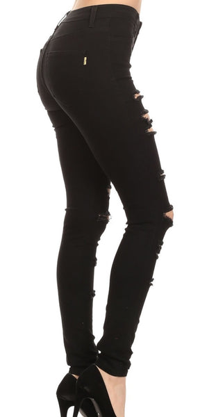 Black Out Distressed Denim