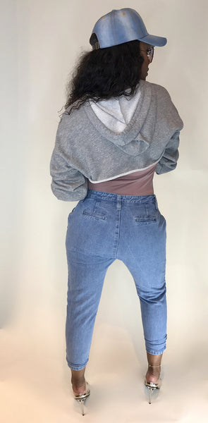 Denim Drop Pants