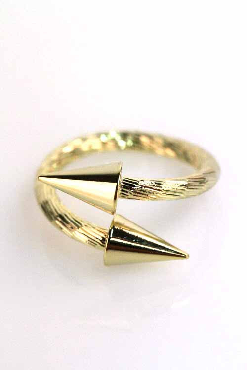 Gold Spike Crossover Ring