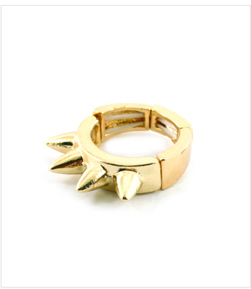 Gold 4 Spike Ring