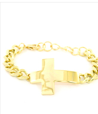 Gold Cross Bracelet