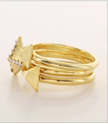 Pyramid Spike Ring Set