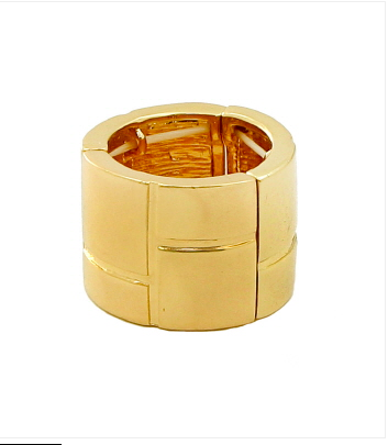 Gold Band Stretch Ring