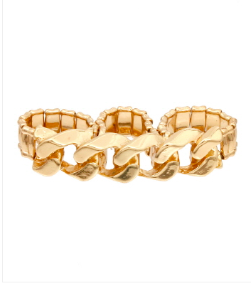 Gold Chain Stretch Ring