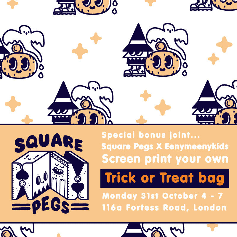 Save the date for our Halloween workshop- screen print your own Trick or Treat Bag.