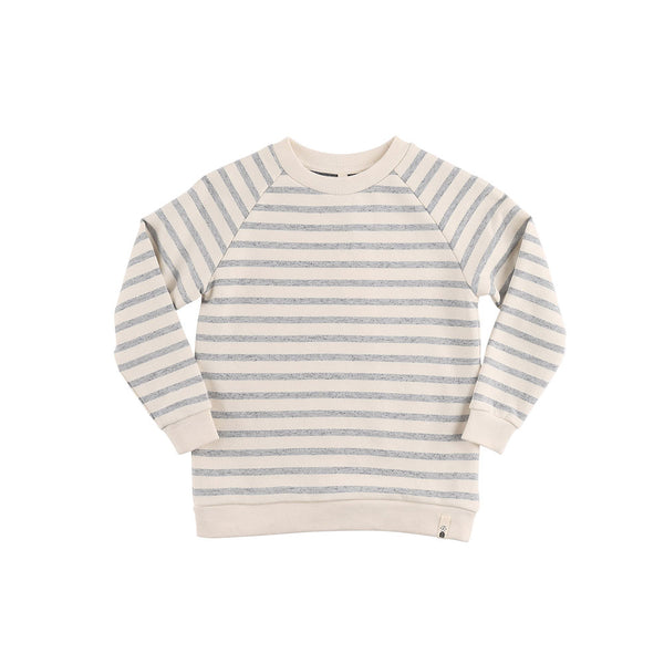 Basic Sweat Navy Yarn Dyed (sale) - eenymeeny kids