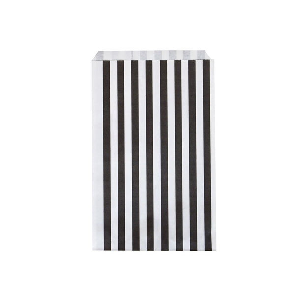 Pack of 10 paper party bags - black stripes - eenymeenyfinal