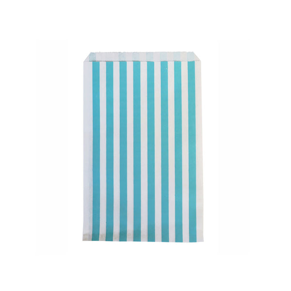 Pack of 10 paper party bags - blue stripes - eenymeenyfinal