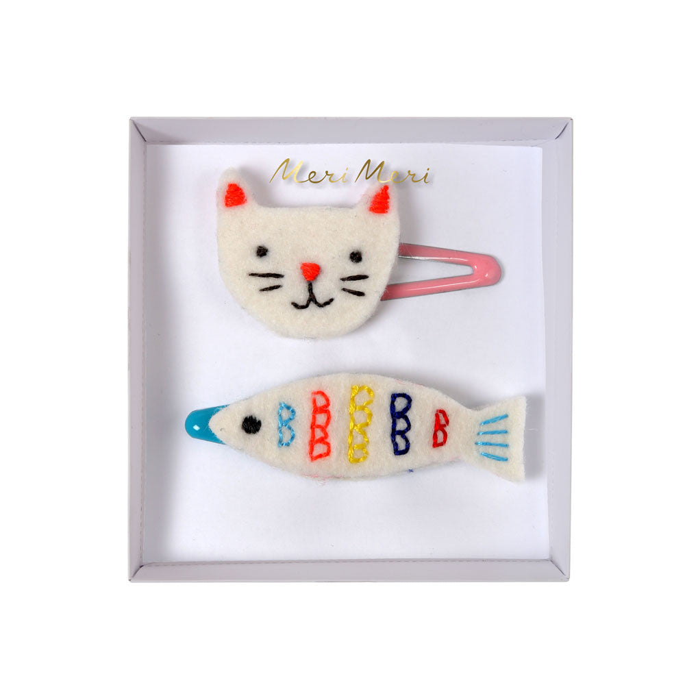 Cat & Fish Hair Clips - eenymeenyfinal