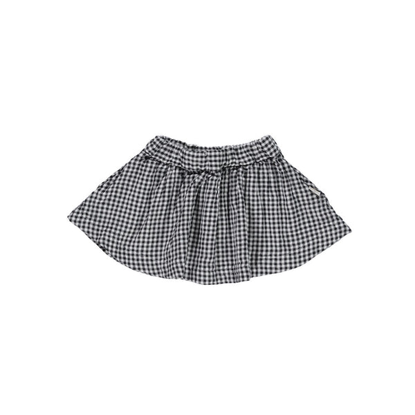 Organic Cotton Check Skirt