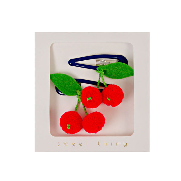 Cherries hair clips - eenymeenyfinal
