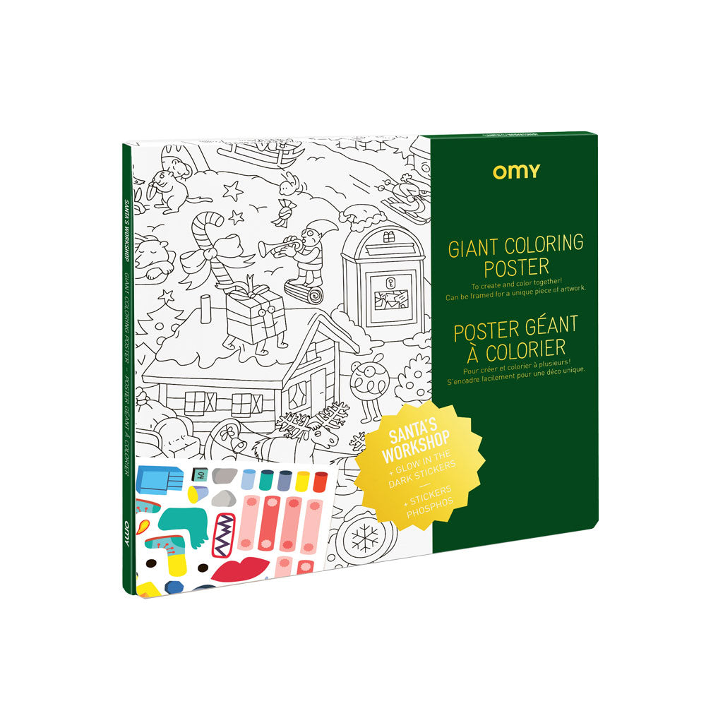 Giant Colouring Poster - Christmas Factory (sale)