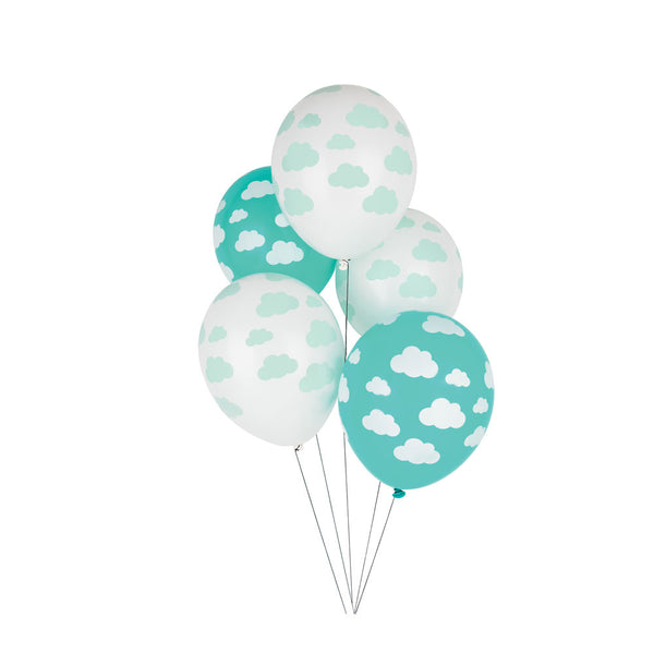 Pack of 5 balloons - cloud