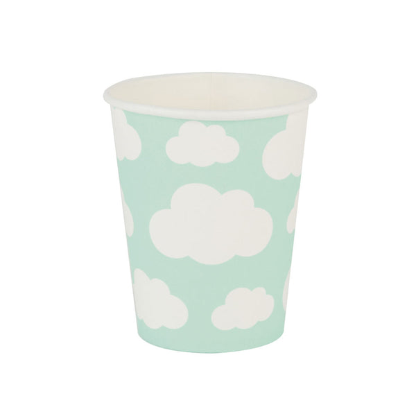 Pack of 8 Paper Cups- clouds