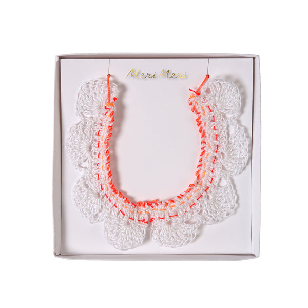 Crochet collar necklace - eenymeenyfinal