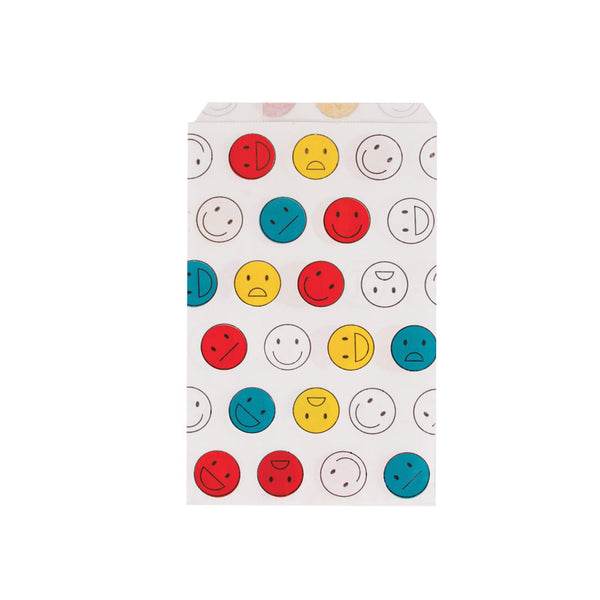 Pack of 10 paper party bags - happy faces - eenymeenyfinal