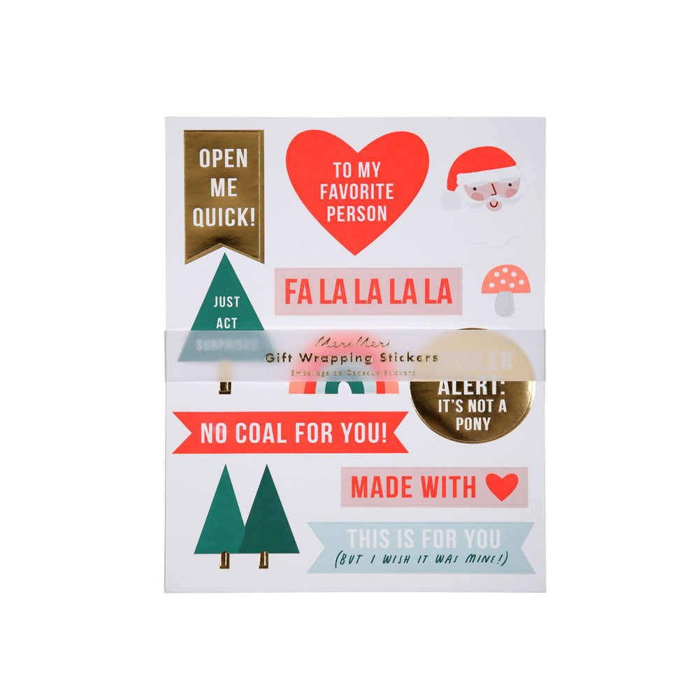 Festive Gift Wrapping Stickers