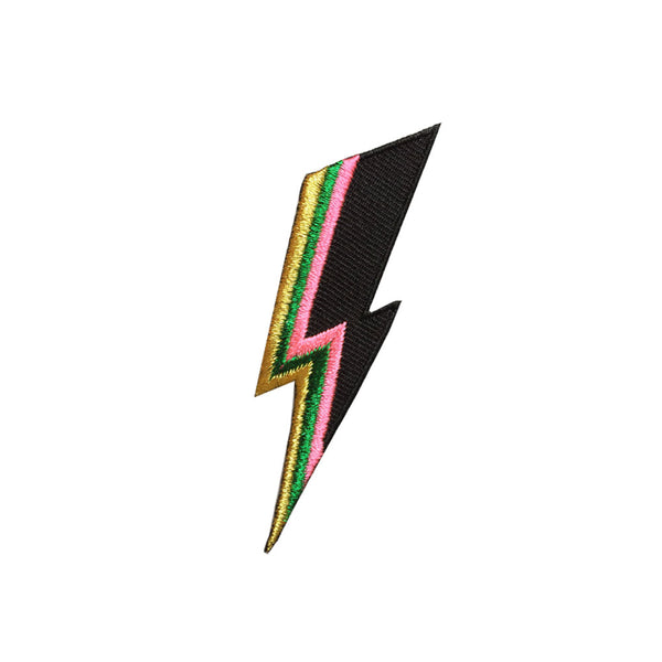 Iron on patch - lightning bolt