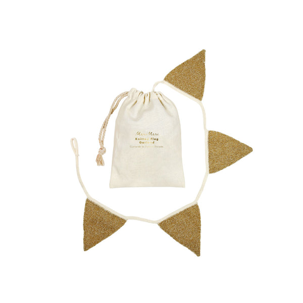 Gold Knitted Bunting