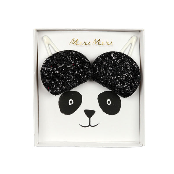 Panda Ear Hair Clips