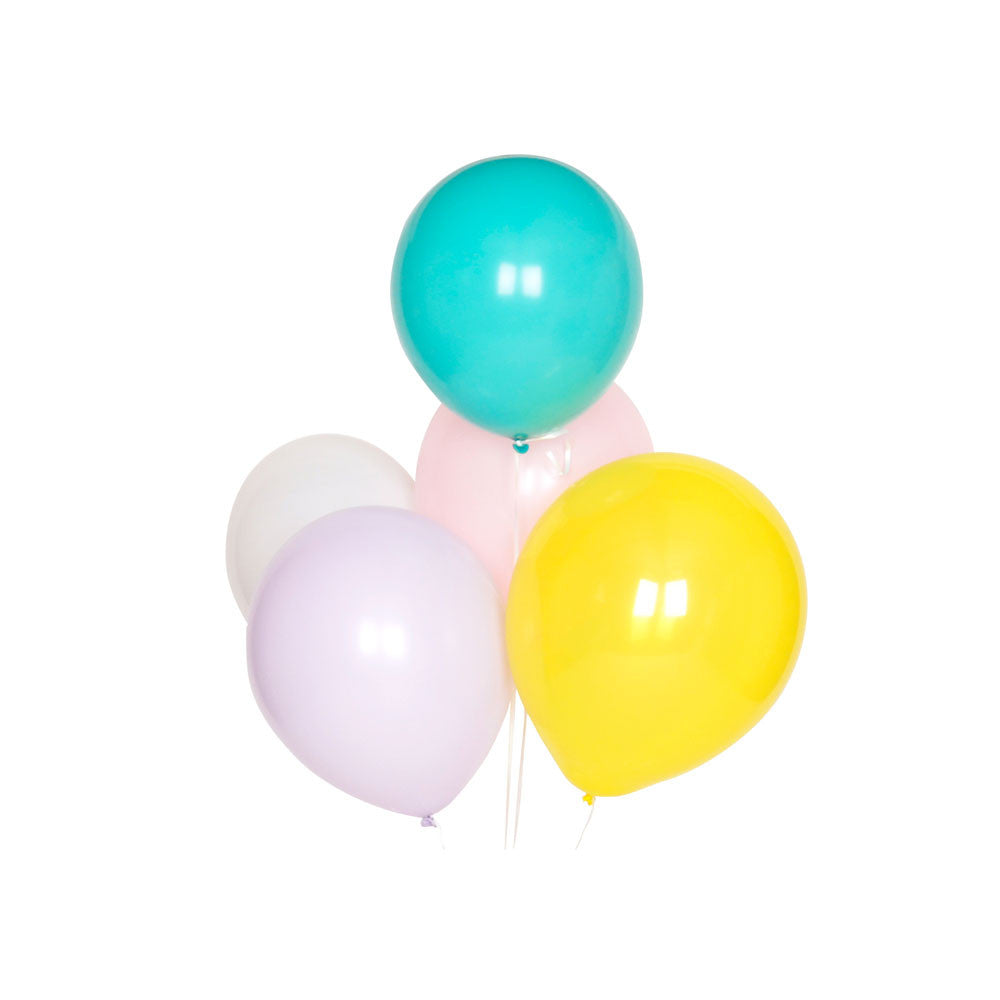 Pack of 10 pastel multicoloured balloons