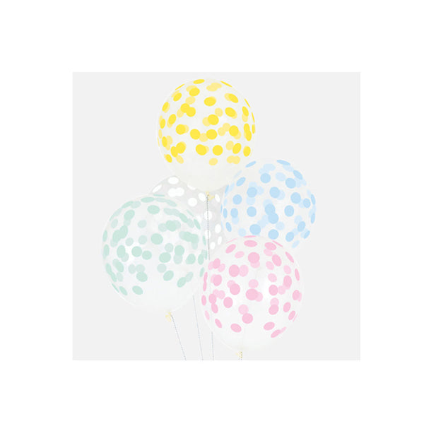 Spotty Balloons - pastel - eenymeeny kids