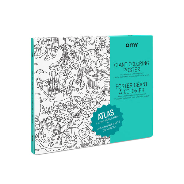 Giant Colouring Poster - Atlas