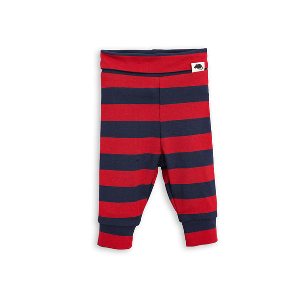Block Stripe baby leggings - Red