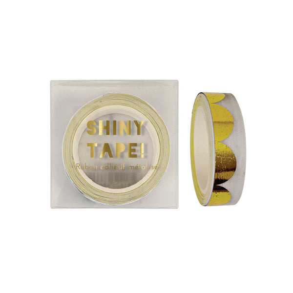 Gold Scallop Pattern Foil Tape