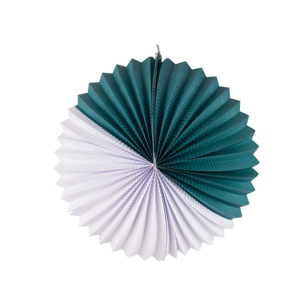 Paper Lantern- teal and white - eenymeenyfinal