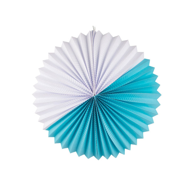 Paper Lantern- turquoise and white
