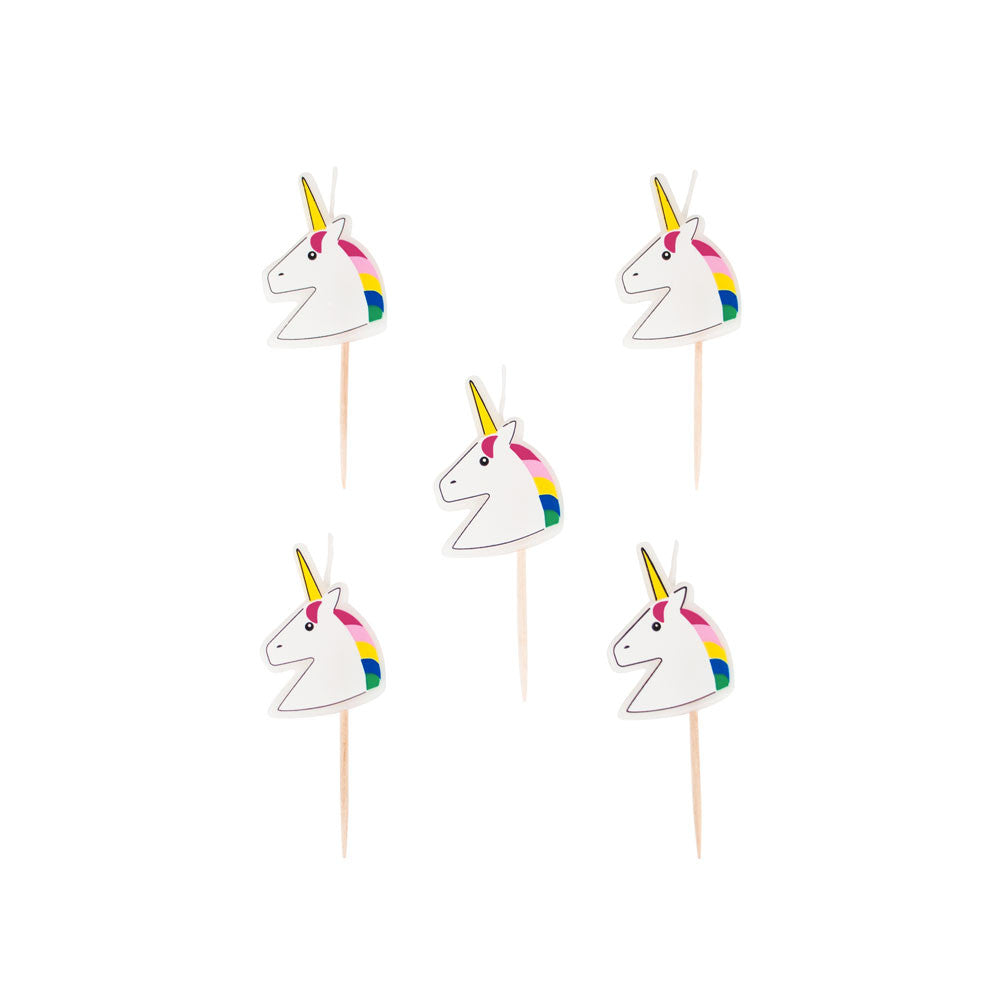 Pack of 5 Unicorn Candles - eenymeeny kids