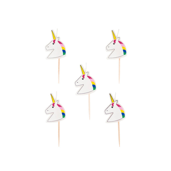 Pack of 5 Unicorn Candles