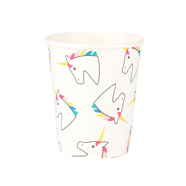 Pack of 8 paper cups - unicorn