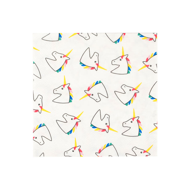 Pack of 20 paper napkins - unicorn