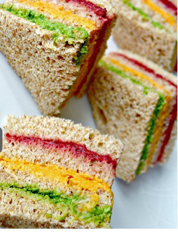 Healthy Rainbow Sandwiches