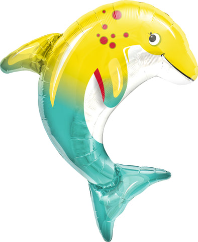 Happy Dolphin Foil Balloon from TheLittleThings, Balloons