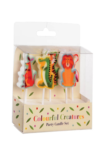 Colourful Creature Party Candles - The Little Things