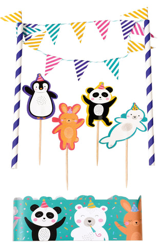 Party Animals Cake Topper