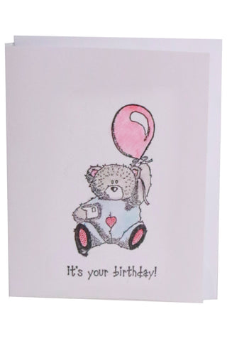 Birthday Card- Teddy Bear