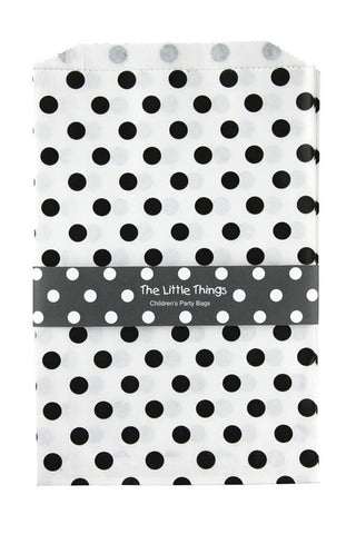 Black Spotty Treat Party Bags (Quantity 12)  - 1