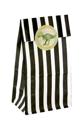 Black Stripe Classic Party Bag  - 1