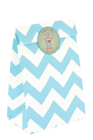 Blue Chevron Classic Party Bag  - 1