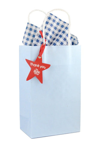 Blue Luxury Party Bag With Choice Of Tissue - The Little Things