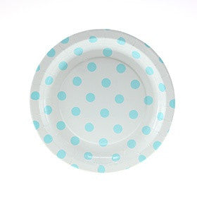 Blue Polkadot Cake Plates (Quantity 12) - The Little Things
