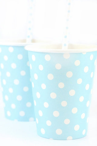 Blue Polkadot Cups (Quantity 12) - The Little Things