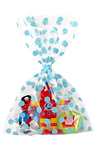 Blue Spots Cello Party Bag  - 1